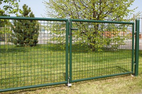 Gartentor, grün, 1,25m hoch - 3,00m breit - Stabile Ausführung