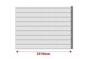 Erweiterung um 2,5 m mit Pfosten für 8-6-8 mm Stabmattenzaun  Set 830mm hoch