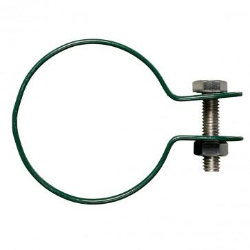 Gelenkschelle für Strebenkappe, grün, für 38/40 mm Pfosten/Strebe