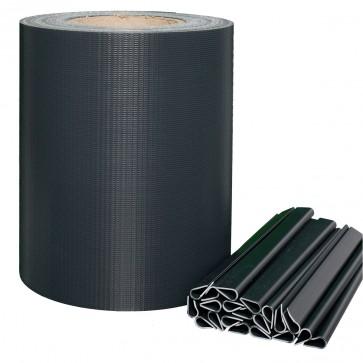PVC Sichtschutzstreifen für Stabmattenzaun, Anthrazit, leichte Ausführung