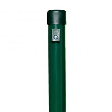 Zaunpfosten, Länge 2,0 m, grün, 38mm Durchmesser, für Maschendrahtzaun-Höhe 1,5 m