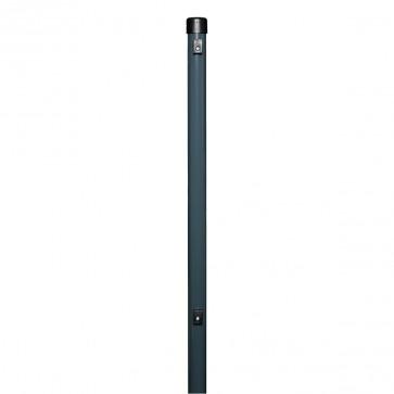 Zaunpfosten, Länge 1,5 m, anthrazit, 38/40mm, für Maschendrahtzaun-Höhe 1,0 m