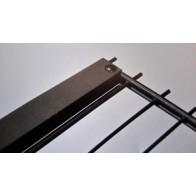 Zaunanschlussset für Stabmattenzaun, anthrazit, 103cm