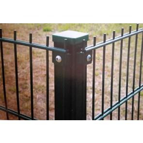Eck-Pfosten grün für 1230mm Stabmattenzaun