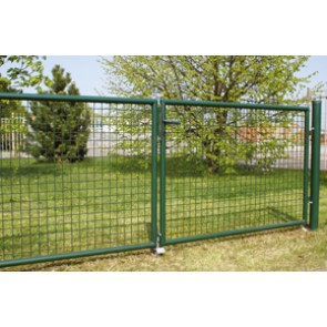 Gartentor, grün, 2,00m hoch - 4,00m breit - Stabile Ausführung