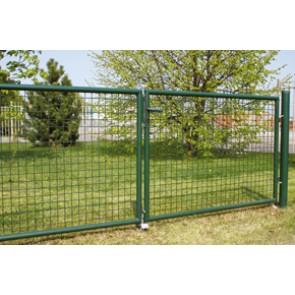 Gartentor, grün, 0,80m hoch - 3,00m breit - Stabile Ausführung