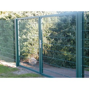 Zaunanschlussset für Stabmattenzaun, grün, 143cm