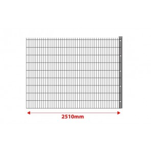 Erweiterung um 2,5 m mit Pfosten für Stabmattenzaun Set 830mm hoch