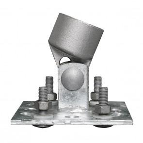 Montagefuss mit Gelenk für 34er Zaunstrebe