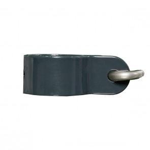 6 Stück Hakenschelle, anthrazit, 34 mm