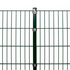 Stabmattenzaun Komplettset, schwere Ausführung 8/6/8, grün, 1,43 m hoch, 15 m lang