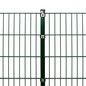 Stabmattenzaun Komplettset, schwere Ausführung 8/6/8, grün, 1,23 m hoch, 17,5 m lang