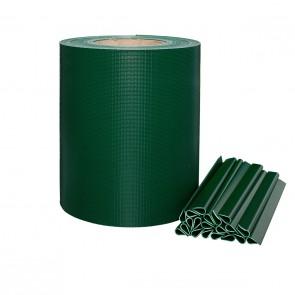 PVC Sichtschutzstreifen für Stabmattenzaun, Grün, leichte Ausführung