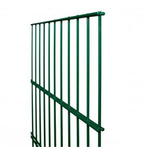 Stabmatte / Zaunfeld, 8-6-8 mm, grün, 1630mm hoch - 2,51 m lang