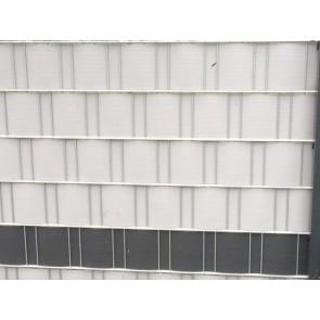 PVC Sichtschutzstreifen für Doppelstabmatten, schwere Ausführung, 50 m Rolle, Zink/Grau