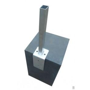 Winkelfussplatte | Pfostenadapter, feuerverzinkt, für Pfosten 60 x 40 mm